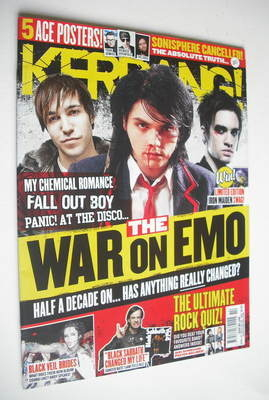 <!--2012-04-07-->Kerrang magazine - The War On Emo cover (7 April 2012 - Is