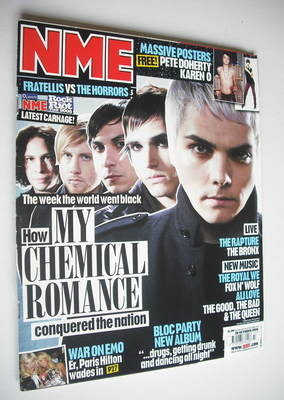 <!--2006-10-28-->NME magazine - My Chemical Romance cover (28 October 2006)