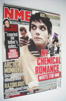 NME magazine - My Chemical Romance cover (7 April 2007)