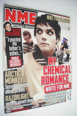 <!--2007-04-07-->NME magazine - My Chemical Romance cover (7 April 2007)