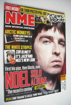 NME magazine - Noel Gallagher cover (14 April 2007)