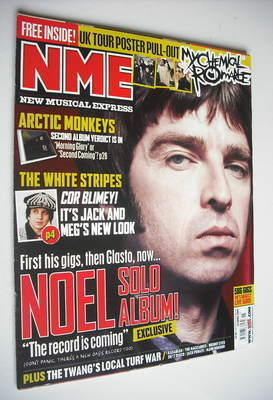 <!--2007-04-14-->NME magazine - Noel Gallagher cover (14 April 2007)