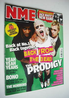 <!--2009-03-21-->NME magazine - The Prodigy cover (21 March 2009)