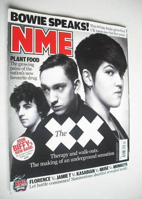 <!--2010-01-30-->NME magazine - The xx cover (30 January 2010)