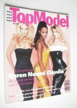 Elle Top Model magazine - Karen Mulder, Naomi Campbell and Claudia Schiffer cover (No. 10)