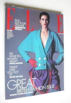 British Elle magazine - March 1988