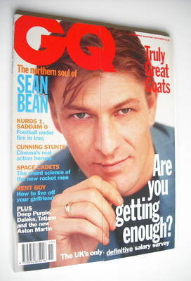 <!--1993-11-->British GQ magazine - November 1993 - Sean Bean cover