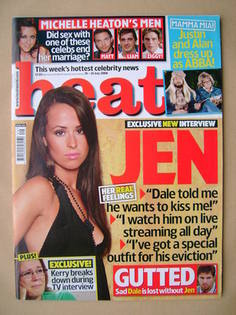 <!--2008-07-19-->Heat magazine - Jennifer Clark cover (19-25 July 2008 - Is