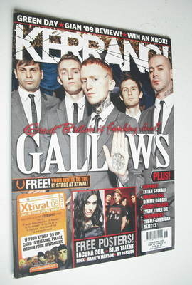 <!--2009-05-02-->Kerrang magazine - Gallows cover (2 May 2009 - Issue 1259)