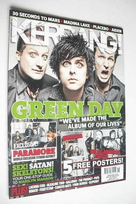 <!--2009-05-09-->Kerrang magazine - Green Day cover (9 May 2009 - Issue 126