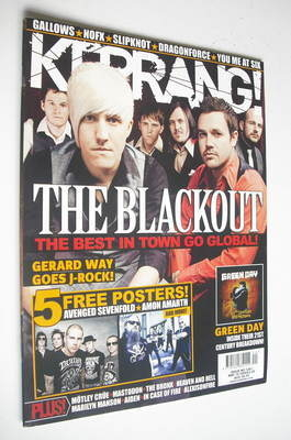 <!--2009-05-16-->Kerrang magazine - The Blackout cover (16 May 2009 - Issue
