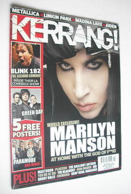 <!--2009-05-23-->Kerrang magazine - Marilyn Manson cover (23 May 2009 - Iss