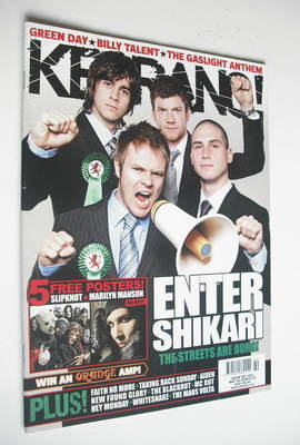 <!--2009-05-30-->Kerrang magazine - Enter Shikari cover (30 May 2009 - Issu