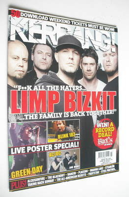 <!--2009-06-06-->Kerrang magazine - Limp Bizkit cover (6 June 2009 - Issue
