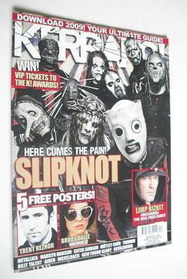 <!--2009-06-13-->Kerrang magazine - Slipknot cover (13 June 2009 - Issue 12