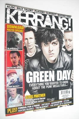 <!--2009-06-27-->Kerrang magazine - Green Day cover (27 June 2009 - Issue 1