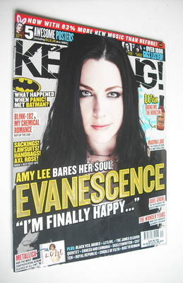 <!--2011-10-08-->Kerrang magazine - Amy Lee cover (8 October 2011 - Issue 1