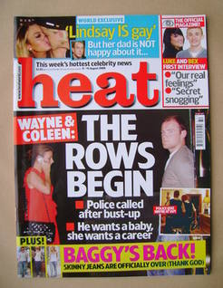 <!--2008-08-09-->Heat magazine - Wayne and Coleen Rooney cover (9-15 August