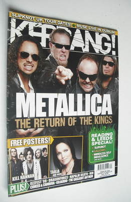<!--2008-08-23-->Kerrang magazine - Metallica cover (23 August 2008 - Issue