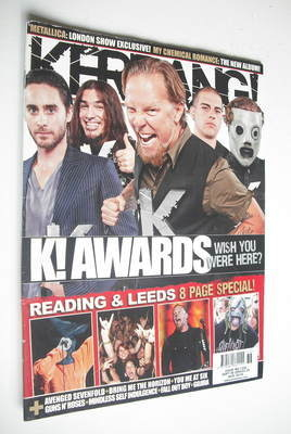 <!--2008-09-06-->Kerrang magazine - K! Awards cover (6 September 2008 - Iss