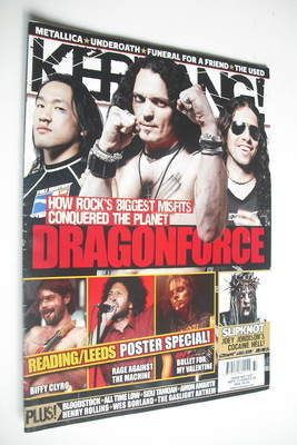 <!--2008-09-13-->Kerrang magazine - Dragonforce cover (13 September 2008 -