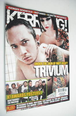 <!--2008-09-20-->Kerrang magazine - Trivium cover (20 September 2008 - Issu