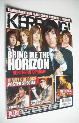 <!--2008-09-27-->Kerrang magazine - Bring Me The Horizon cover (27 Septembe