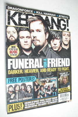 <!--2008-10-11-->Kerrang magazine - Funeral For A Friend cover (11 October