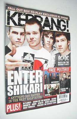 <!--2008-10-18-->Kerrang magazine - Enter Shikari cover (18 October 2008 -