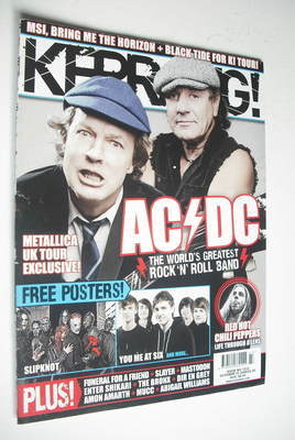 <!--2008-10-25-->Kerrang magazine - AC/DC cover (25 October 2008 - Issue 12