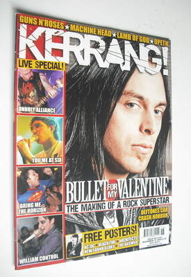 <!--2008-11-15-->Kerrang magazine - Bullet For My Valentine cover (15 Novem