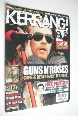 <!--2008-11-22-->Kerrang magazine - Guns N'Roses cover (22 November 2008 -