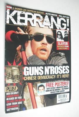 <!--2008-11-22-->Kerrang magazine - Guns N'Roses cover (22 November 2008 -