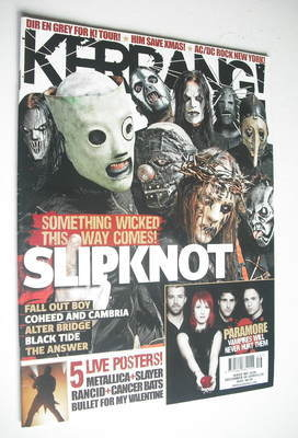 <!--2008-12-06-->Kerrang magazine - Slipknot cover (6 December 2008 - Issue