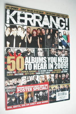 <!--2009-01-03-->Kerrang magazine - 50 Albums You Need To Hear In 2009 cove