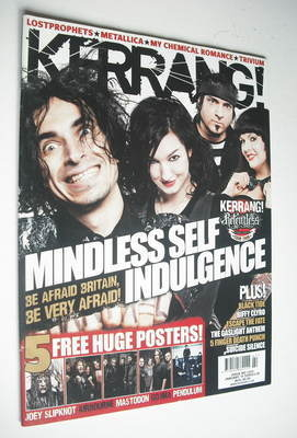 <!--2009-01-10-->Kerrang magazine - Mindless Self Indulgence cover (10 Janu