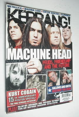 <!--2009-04-04-->Kerrang magazine - Machine Head cover (4 April 2009 - Issu