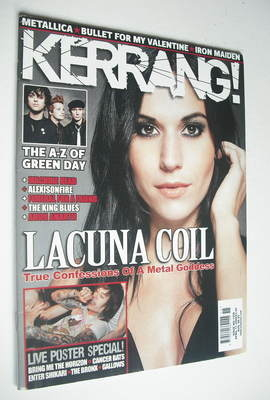 <!--2009-04-11-->Kerrang magazine - Cristina Scabbia cover (11 April 2009 -