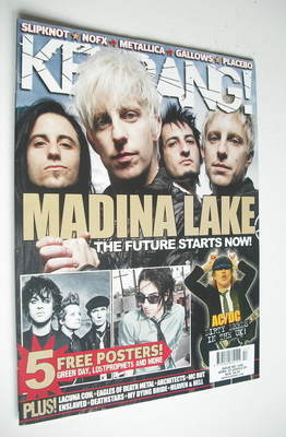 <!--2009-04-25-->Kerrang magazine - Madina Lake cover (25 April 2009 - Issu