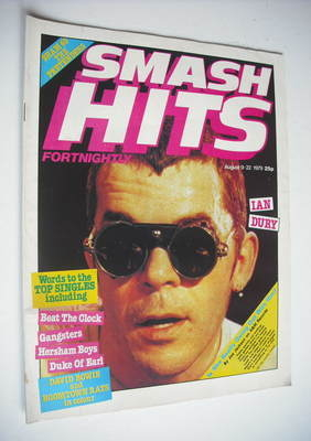<!--1979-08-09-->Smash Hits magazine - Ian Dury cover (9-22 August 1979)