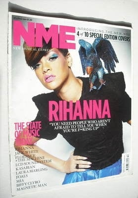 <!--2010-04-10-->NME magazine - Rihanna cover (10 April 2010)