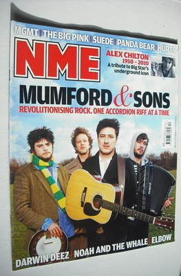 <!--2010-03-27-->NME magazine - Mumford & Sons cover (27 March 2010)