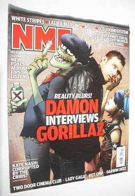 <!--2010-03-13-->NME magazine - Damon Albarn and Gorillaz cover (13 March 2