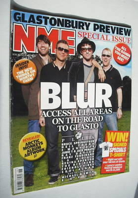 <!--2009-06-27-->NME magazine - Blur cover (27 June 2009)