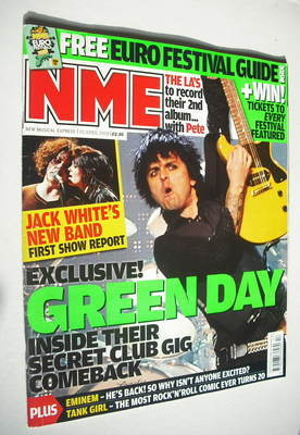 <!--2009-04-25-->NME magazine - Green Day cover (25 April 2009)