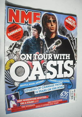 <!--2007-10-27-->NME magazine - Oasis cover (27 October 2007)