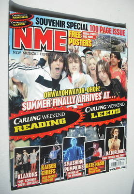 <!--2007-09-01-->NME magazine - Leeds and Reading Festival cover (1 Septemb
