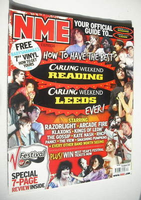 <!--2007-08-25-->NME magazine - Leeds and Reading Festival cover (25 August
