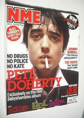 <!--2007-08-11-->NME magazine - Pete Doherty cover (11 August 2007)