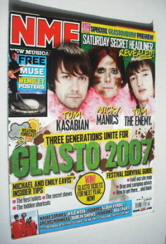 NME magazine - Glastonbury 2007 cover (23 June 2007)